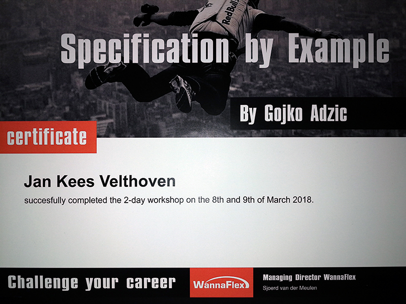 Specification By Example Workshop Gojko Adzic Velthoven E Business