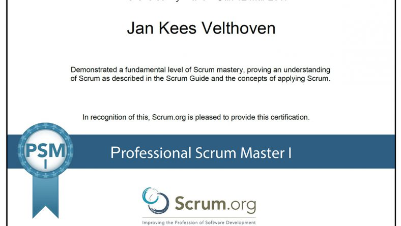 Scrum Master Certificaat