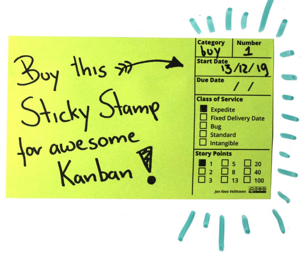 Kanban Sticky Stamp
